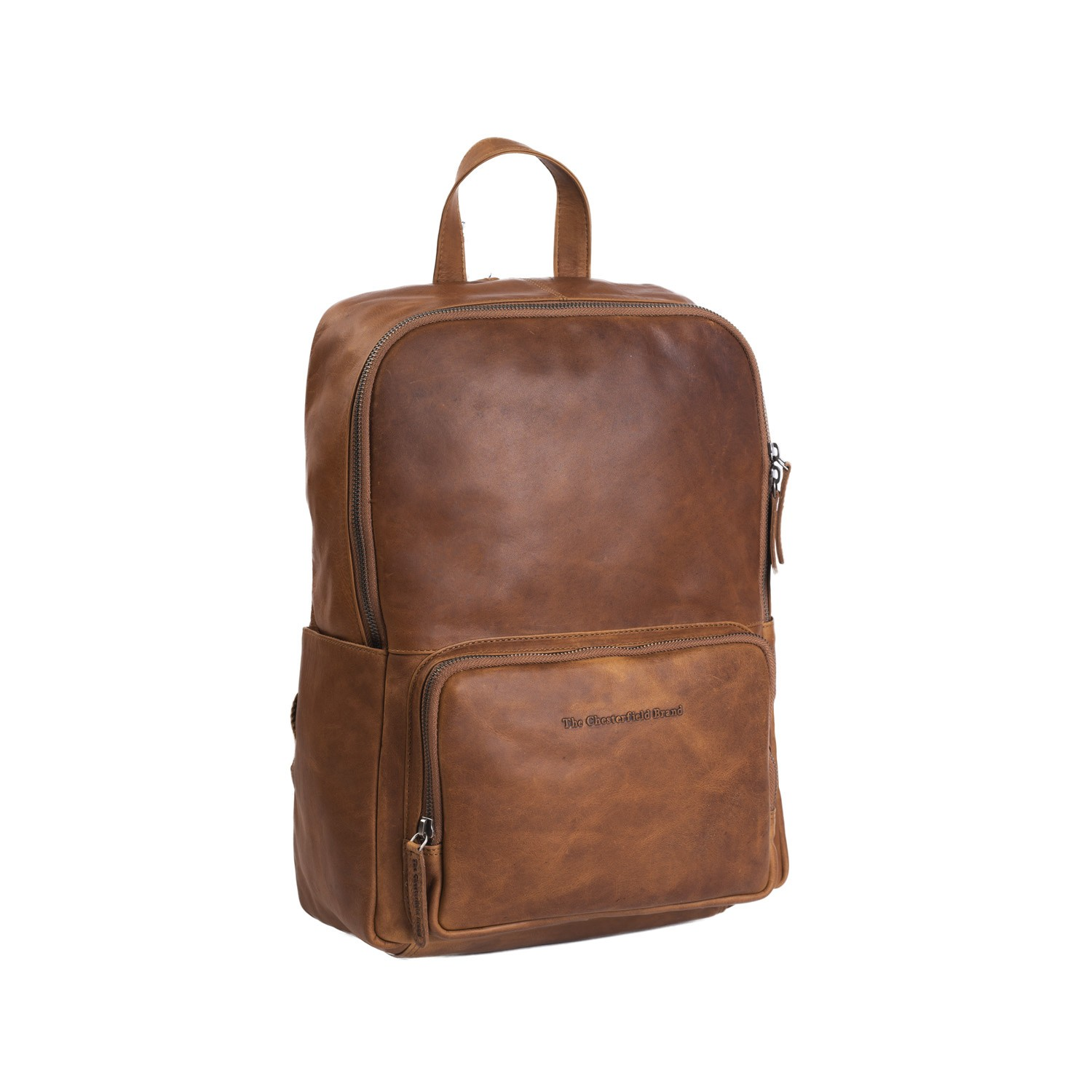 38b52d175da30 Leather Backpack Cognac Ari