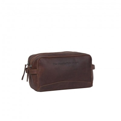 Leather Toiletry Bag Brown Stefan