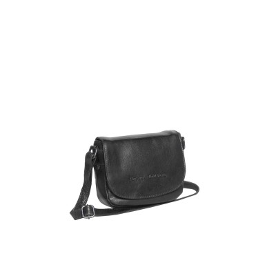 Leather Shoulder Bag Black June