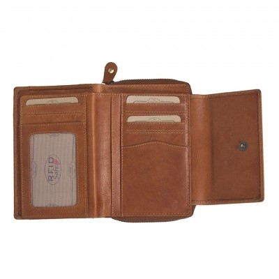 Photo of Leather Wallet Cognac Kenrick