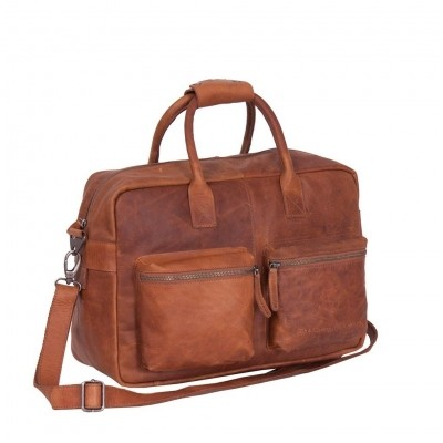 Leather Shoulder Bag Cognac Yasmin