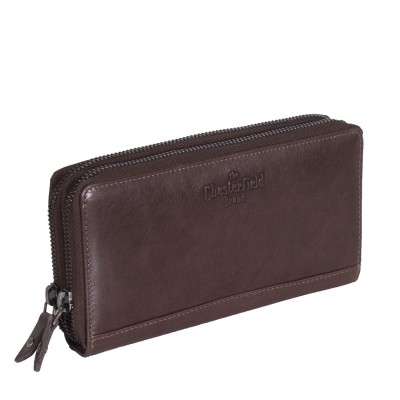 Leather Wallet Brown Zoe