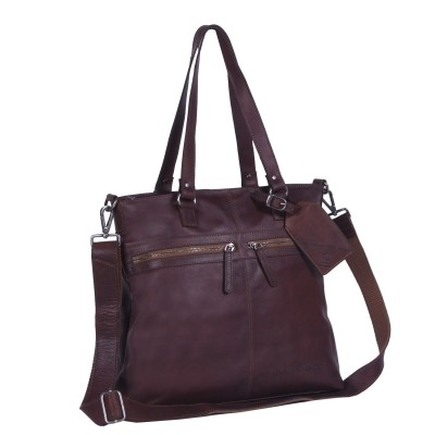Photo of Leather Shopper Dark Cognac Cleo