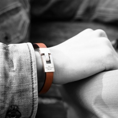 Photo of Leather Bracelet Brown Granada