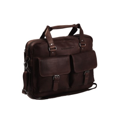 Leather Laptop Bag Brown George