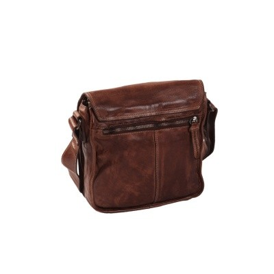 Photo of Leather Shoulder Bag Brown Aden