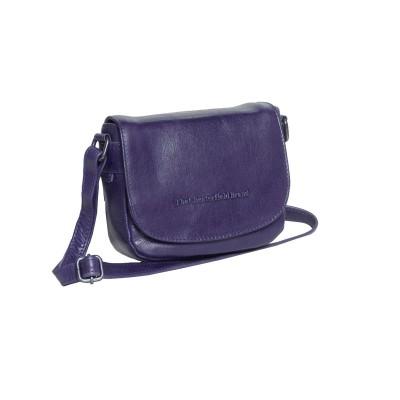 Leather Shoulder Bag Navy Ilse