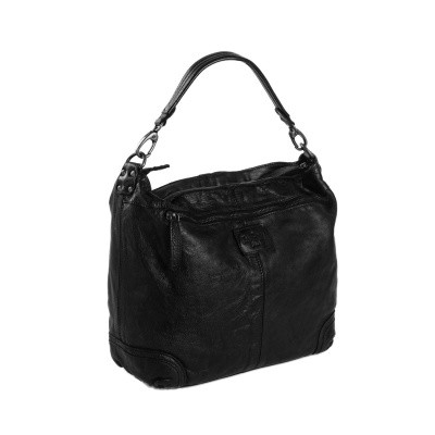 Leather Shoulder Bag Black Abby
