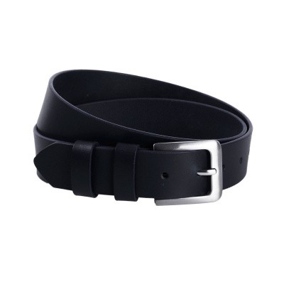 Leather Belt Navy Vigo