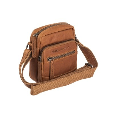 Leather Shoulder Bag Cognac Bremen