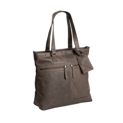 Photo of Leather Shopper Bag Taupe Cleo