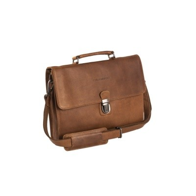 Leather Briefcase Cognac Bren
