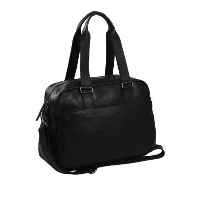 Leather Shoulder Bag Black Adelaide