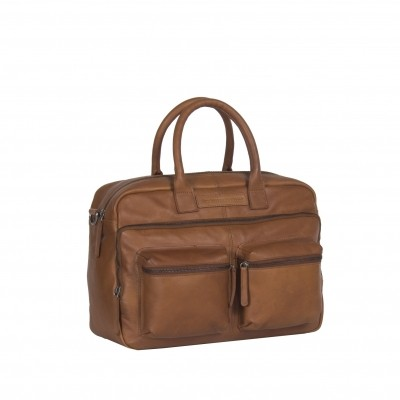 Leather Laptop Bag Cognac Ruben