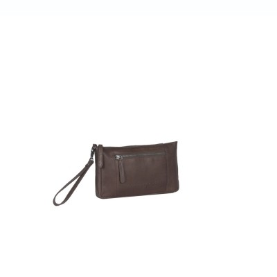 Photo of Leather Clutch Brown Sonia