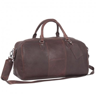 Leather Weekend Bag Brown William