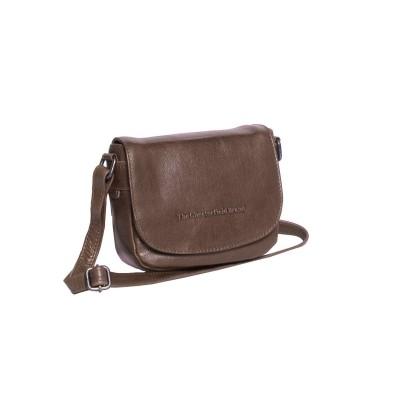 Leather Shoulder Bag Taupe Ilse