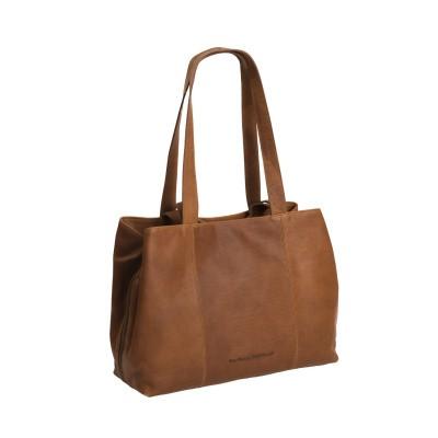 Leather Shoulder Bag Cognac Gail
