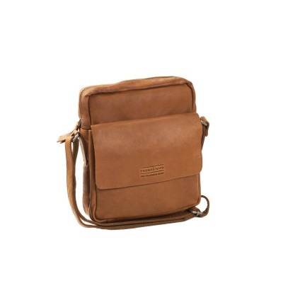 Photo of Leather Shoulder Bag T9 Cognac Thomas Hayo