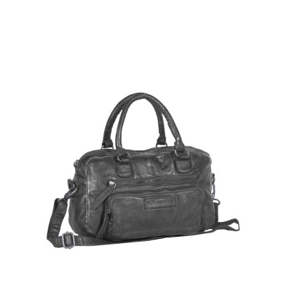 Leather Shoulder Bag Black Rix