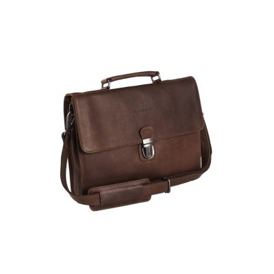 Leather Briefcase Brown Bren
