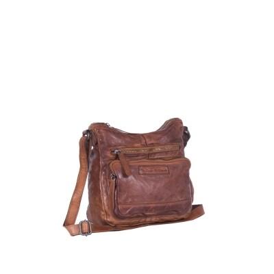 Leather Shoulder Bag Cognac Vicky