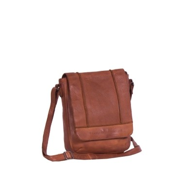 Leather Shoulder Bag Cognac Aida