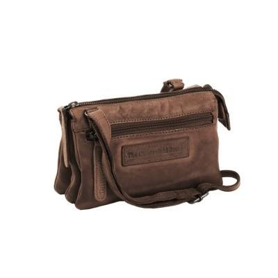 Leather Shoulder Bag Taupe Ivy
