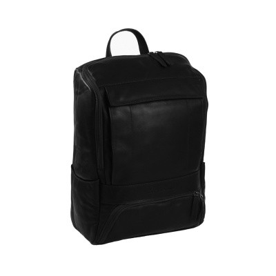Leather Backpack Black Rich