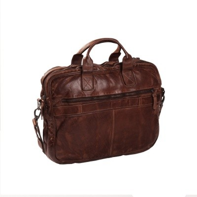 Photo of Leather Laptop Bag Brown Amsterdam