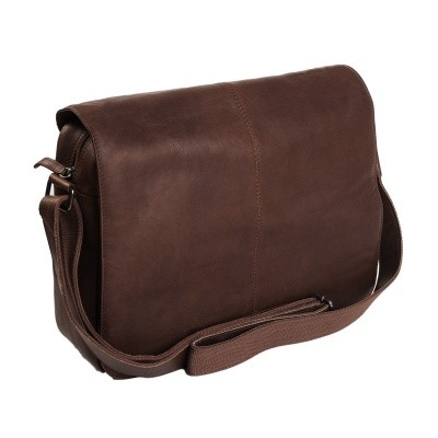 Leather Shoulder Bag Brown Chen