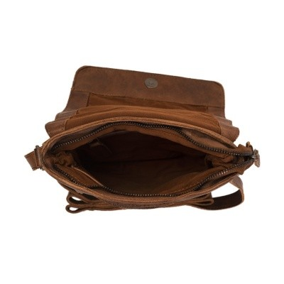 Photo of Leather Shoulder Bag Cognac Calais