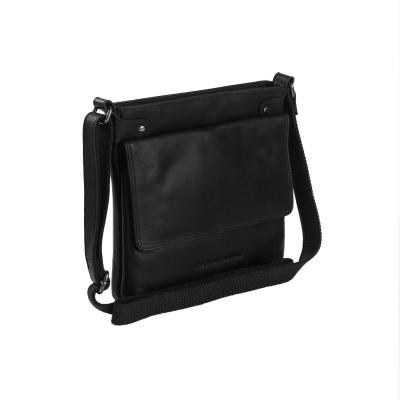 Leather Shoulder Bag Black Brussels