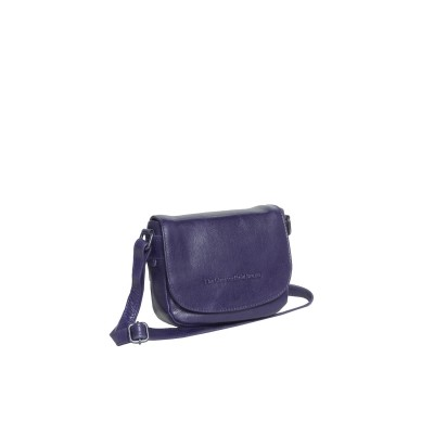 Leather Shoulder Bag Navy June