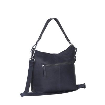 Photo of Leather Shoulder Bag Navy Jen