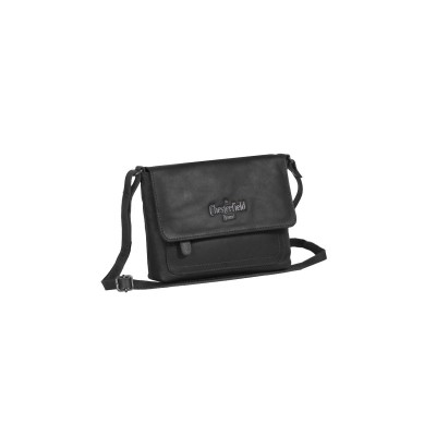 Leather Shoulder Bag Black Brooke
