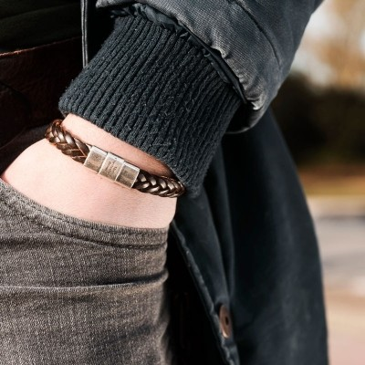 Photo of Leather Bracelet Brown Java