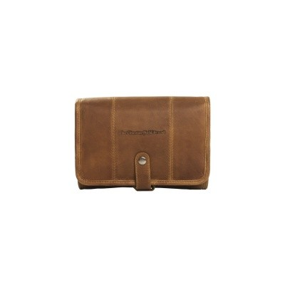Leather Toiletry Bag Cognac Ambon