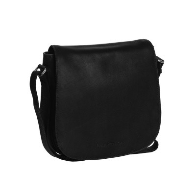 Photo of Leather Shoulder Bag Black Yves