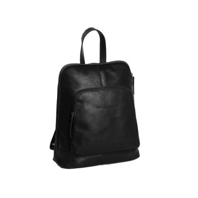 Leather Backpack Black Naomi