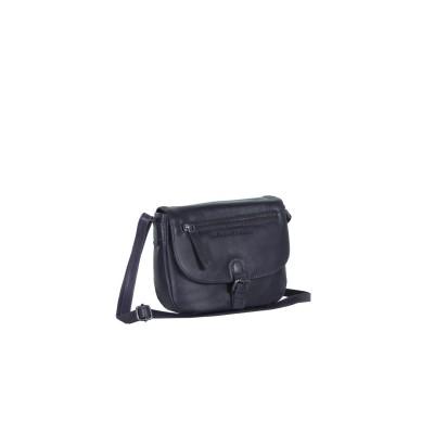 Leather Shoulder Bag Navy Faja
