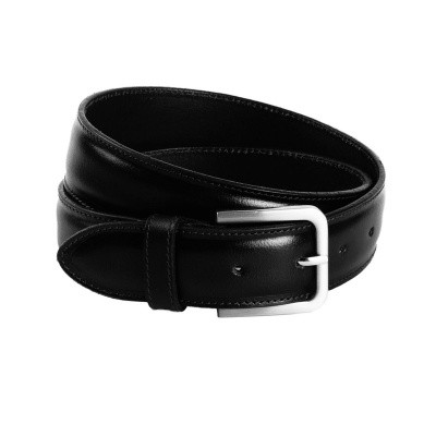 Leather Belt Black Dash