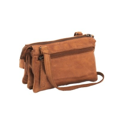 Leather Shoulder Bag Cognac Ivy