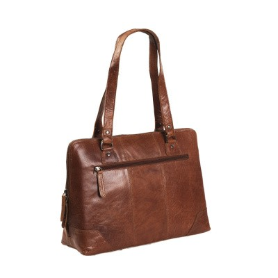Photo of Leather Shoulder Bag Cognac Resa
