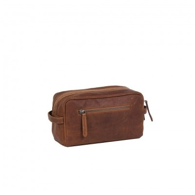 Photo of Leather Toiletry Bag Cognac Stacey