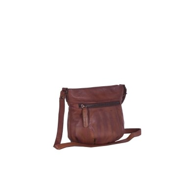 Photo of Leather Shoulder Bag Black Label Cognac Cindy