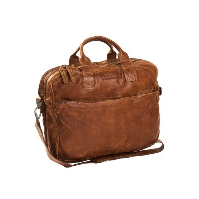 Leather Laptop Bag Cognac Amsterdam