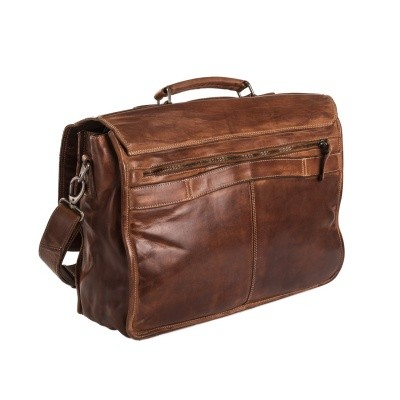 Photo of Leather Briefcase Cognac Aberdeen