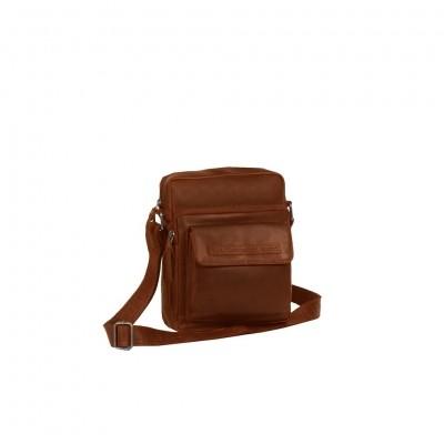 Leather Shoulder Bag Cognac Bath