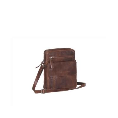 Leather Shoulder Bag Cognac Luna